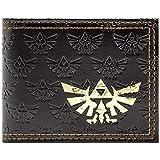Cartera de Legend of Zelda Triforce Artefacto Negro