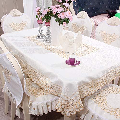 ZREED Exquisit Rechteck Tischdecke, Tischdecke Anti-Fading und Anti-Falten-Piano Staubtuch häusliche Dekoration for Küche, Esszimmer Für Zuhause (Color : 215cm)
