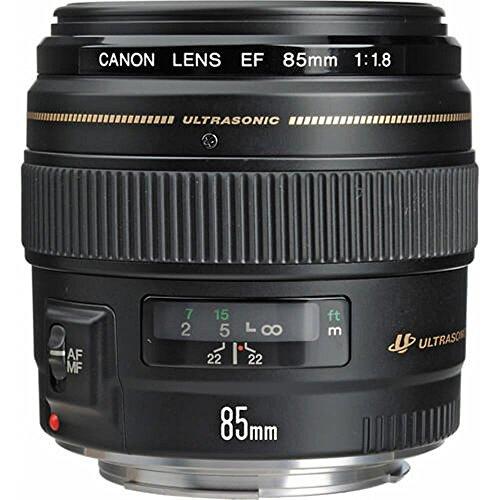 Lente EF, Canon, 85mm f/1.8 USM, Preta