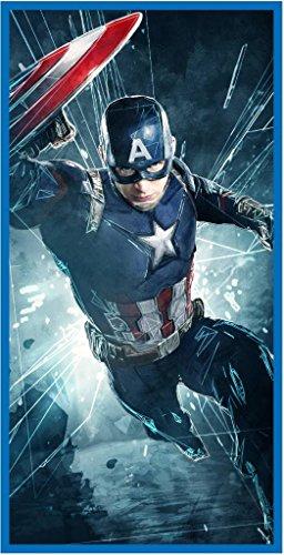 Marvel Capitán América de los Vengadores–Toalla de playa (70x 140cm, algodón