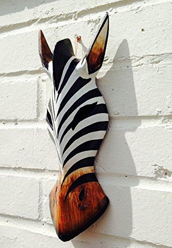 Mini Yembe hecho a mano de madera de piel de cebra diseño