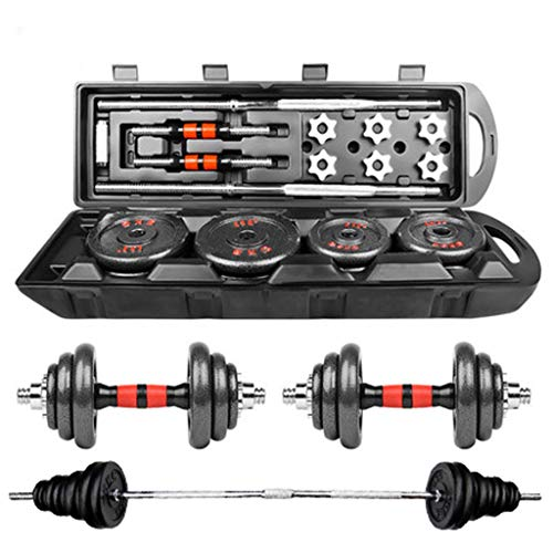 Adjustable Weights Dumbbells Set 110LB - Paint Kit With Gift Box - Free Weight Set for Men and Women Home Weight Set Fitness Barbell Set with Connecting Rod Gym Exercise Training (110LB Dumbells Set)