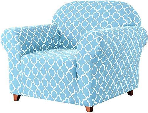 HYLDM Fundas de sofá universales, Fundas de sofá elásticas Jacquard Fundas de sillón 1 2 3 4 plazas Poliéster Spandex Patrón Floral Funda Antideslizante para sofá para Mascotas (Azul CIE
