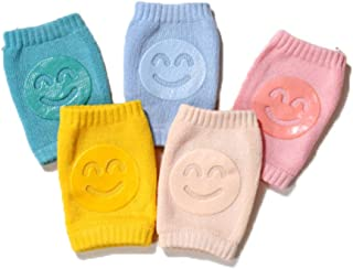 Baby Crawling Anti-Slip Knee, 5 Pairs Unisex Baby Toddlers Crawling Kneepads Protectors Toddlers Leg Warmers