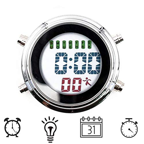 TPSKY Mini Waterproof Clock, Shower Clock, Bathroom Alarm Clock, Multi-Function Mini Electronic Clock, Calendar Display Timer Luminous Function, with Multi-Function Suction Cup