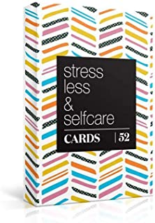 52 Stress Less & Self Care Cards - Mindfulness & Meditation Exercises - Anxiety Relief & Relaxation