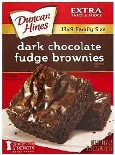Duncan Hines Brownie Mix, Dark Chocolate Fudge (3 Pack)
