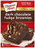 3 - 18.2 Oz. (515g) Boxes Moist & Delicious Dark Chocolate Fudge Brownies Mix Extra Thick and Fudgy Easy to Make and Tastes Great Delicious Duncan Hines Dark Chocolate Fudge Brownies are a favorite to eat and easy to prepare.