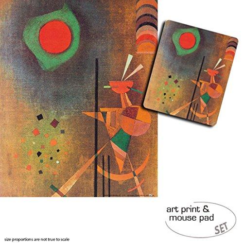 Set Regalo: 1 Póster Impresión Artística (50x40 cm) + 1 Alfombrilla para Ratón (23x19 cm) - Vassili Kandinsky, Iluminación, 1927