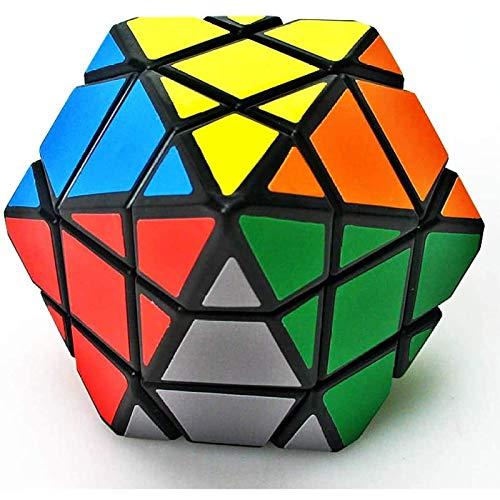 Uymkjv El Cubo de Rubik Tiene Solo una pirámide Hexagonal de Seis Puntos y un patrón de Doble pirámide de 3x3x3. Juguete Educativo para niños Cubo de Rubik A