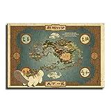 Avatar_The_Last_Airbender-Karte Leinwandkunst Poster und