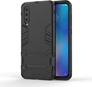 QFH Shockproof PC + TPU Case for Xiaomi Mi 9, with Holder(Black) new style phone case (Color : Blue)