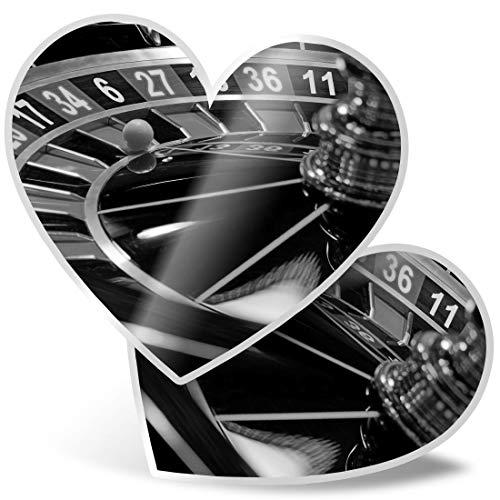 Impresionante pegatinas de corazón de 7,5 cm – BW – Cool Roulette Wheel Casino calcomanías divertidas para ordenadores portátiles, tabletas, equipaje, libros de chatarra, frigorífico, regalo genial #39421