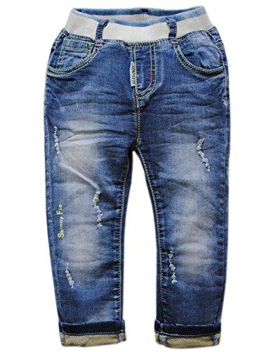 3916 Blue Soft Denim Pants Baby Boys Jeans Baby Jeans Kids Casual Pants Trousers (12M)