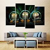N / A Pintura de la Lona Arte de la Pared Tres Anime Hombre Amarillo gestión del Espacio t inyección de Tinta Tinta Impermeable decoración del hogar