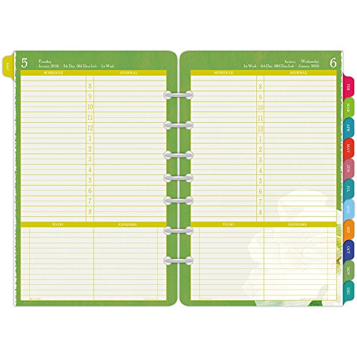 DayTimer Flavia Desk-Size Daily Planner Refill 2016, 5.5 x 8.5 Inches Page Size (094511601)