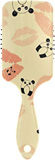 Vintage Panda With Lips Print Hair Brush for Wet & Dry Hair Grip Soft Bristles for Anti Static & Frizz Air Cushion Comb for Women Girls