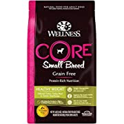 Wellness Core Natural Grain Free Dry Dog Food, Small Breed Healthy Weight, 4-Pound Bag