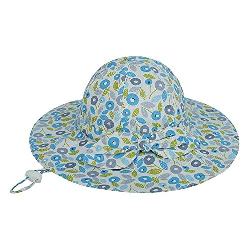 iSunday Sombrero de pescador sombrero de los niños del cuenca del arco unisex del niño ajustable ala ancha protección solar sombrero para bebé niña niño niño niño niño pequeño