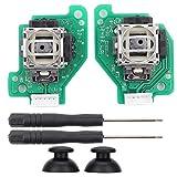 Bascules et Boutons de Remplacement pour WII U, Module de capteur de Joystick analogique 3D potentiomètre Ensemble de Baguettes de Pouce avec Outil de réparation pour WII U