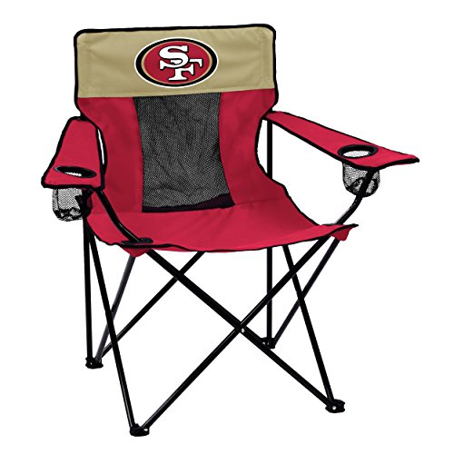 Logo Brands Officially Licensed NFL San Francisco 49ers Unisex Elite Chair, One Size, Team Color