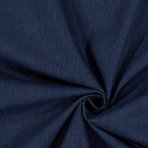 Fabulous Fabrics Jeans Navy, Uni, 150cm breit – Jeans zum Nähen von Frühlings-/Sommerkleidung, Jacken und Hosen – Meterware erhältlich ab 0,5 m
