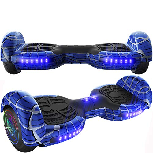 Emaxusa Hoverboard Self Balancing Scooter 6.5' Two-Wheel Hoverboards with Bluetooth Speaker and LED Lights Electric Scooter for Kids and Adult, UL Safety Certified (Blue)