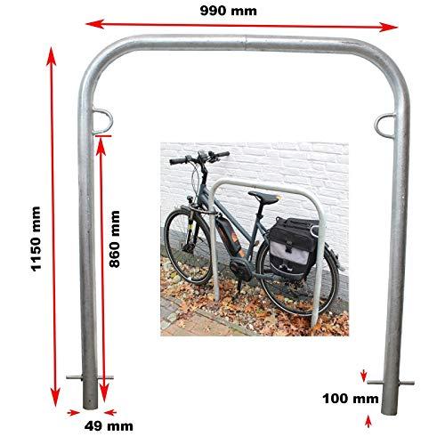 TRUTZHOLM B-Ware (Neuware mit Produktionsfehler) Fahrradanlehnbügel zum Einbetonieren 990mm breit Fahrradständer Anlehnbügel Anlehnständer Poller Ständer feuerverzinkt Fahrradständer Fahrrad Ständer
