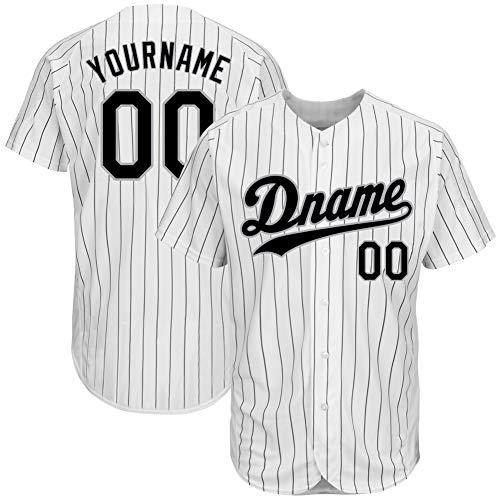 Custom Men's Hip Hop Athletic Shirts Button-Down Mesh Baseball Jersey Personalized Team Uniforms L