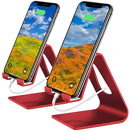 Cell Phone Stand, 2 Pack Phone Stand Universal Mobile Phone Stand Desktop...
