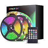 LED Strip, Led Streifen 5m Led Band RGB Led Lichterkette mit Farbwechselnde Bandbeleuchtung mit Fernbedienung für Wohnzimmer, Küche, Schlafzimmer, Decke, Schrank, Vitrine und mehr