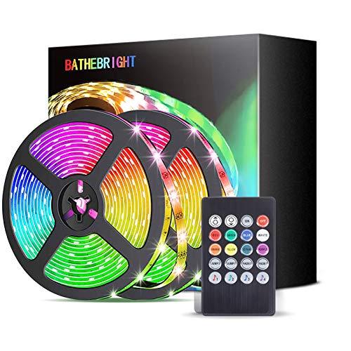 Tiras LED, Xpreen Luces LED RGB 5M 5050 con Control Remoto...