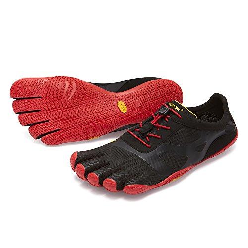 [vibram fivefingers ファイブフィンガーズ] Men's KSO EVO メンズ 18m0701 Black/Red (M41(26.7cm), Black/Red)