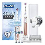 Oral-B Genius 9000 Electric Toothbrush Rechargeable Powered by Braun, Rose Gold (2-Pin Bathroom Plug)
