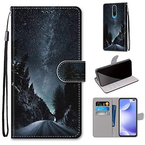 Xiaomi Pocophone X2 Hülle, SATURCASE Schön PU Lederhülle Magnetverschluss Brieftasche Kartenfächer Standfunktion Handschlaufe Handy Tasche Schutzhülle Handyhülle Hülle für Xiaomi Pocophone X2 (DK-10)