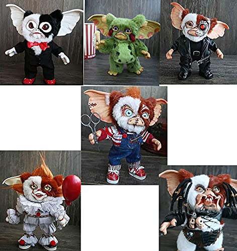 QXXKJDS Emocionante Halloween 2021 New Mogwai Handmade Doll-Mogwai Gizmo, Cute Gremlins Monster Plush Doll, Miniatura de Fieltro Gizmo Art Creature, Peluche de Juguete para el hogar