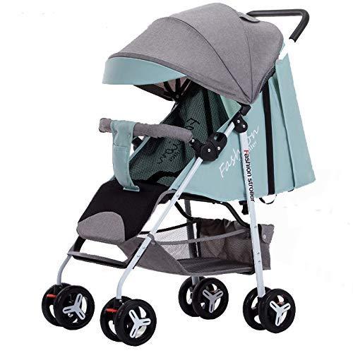 SBDLXY Rollstuhl mit einhändigem, zusammenklappbarem Kinderwagen, leichtem Kinderwagen, Kinderwagen, Kinderwagen, mit lehnbarem Buggy für die Rückenlehne, Stoßstange, geeignet von Geburt bis 25 kg