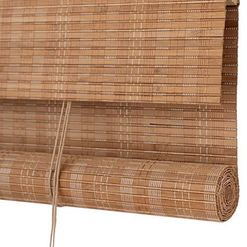 LXF Estores Enrollables Cortinas enrollables filtrantes de luz con Cenefa, Persiana Enrollable de bambú de Estilo japonés, para Porche Patio Gazebo Pérgola, Tamaño Personalizado (Size : 60x120 cm)