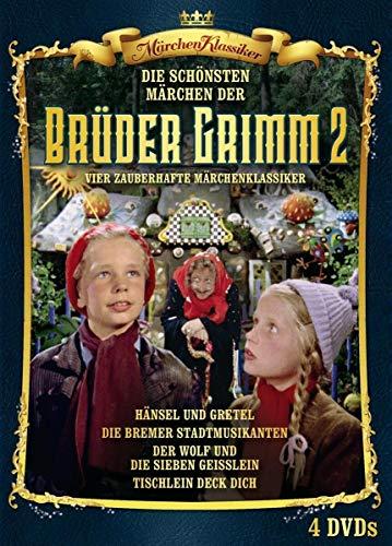 Märchen Klassiker: Brüder Grimm Box 2: Vier zauberhafte Märchen-Klassiker: Hänsel & Gretel / Die Bremer Stadtmusikanten / Der Wolf und die 7 Geisslein / Tischlein deck dich