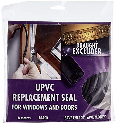 Stormguard 6Meter Schwarz uPVC Universal Ersatz Dichtung für Fenster oder Tür