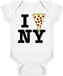 I Pizza New York Funny Slice Graphic Love NYC Infant Bodysuit