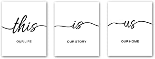 CHDITB Unframed Inspirational Lettering Quotes Wall Art Print This is Us Painting, Set of 3(8
