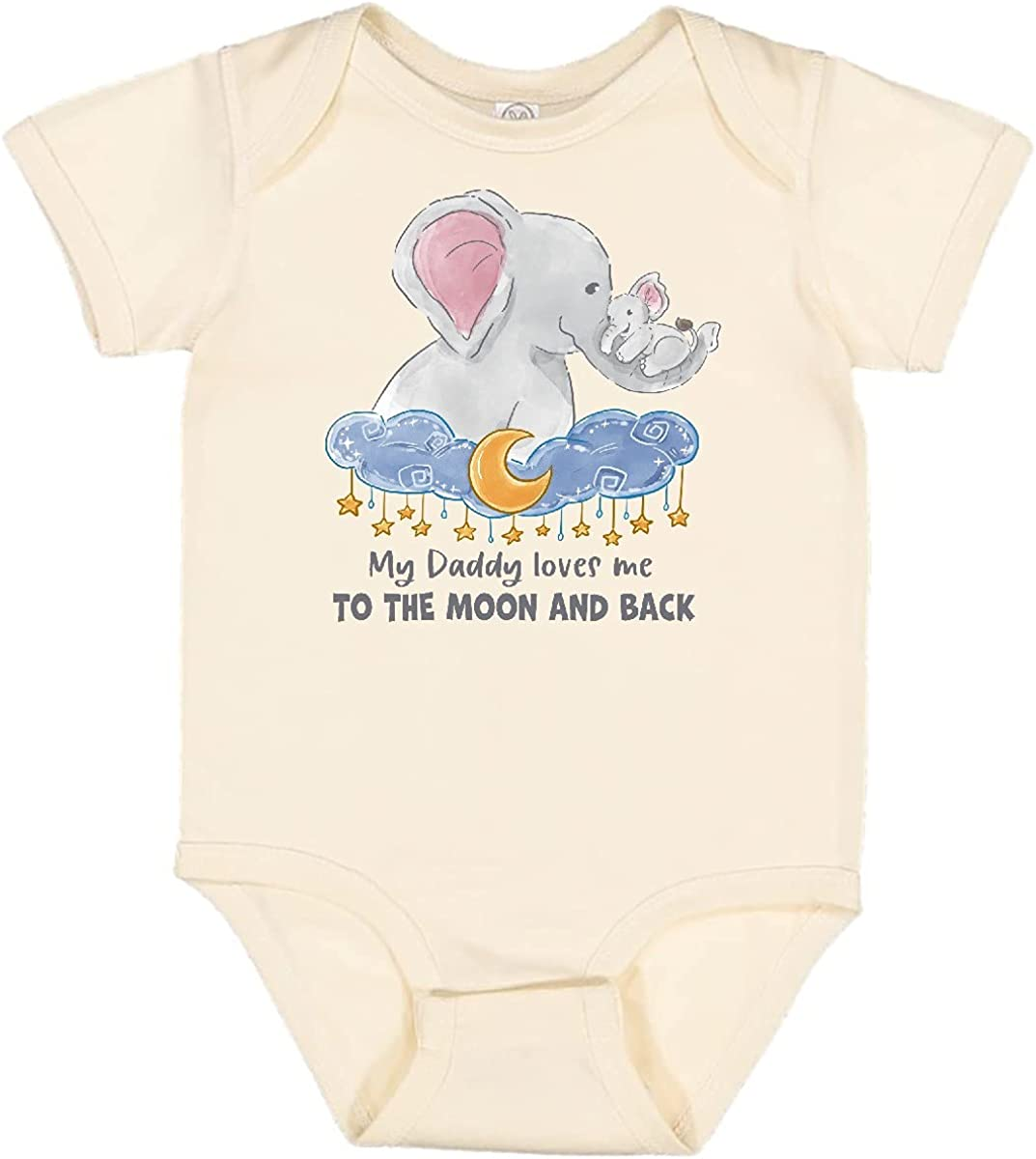 inktastic My Daddy Max 63% OFF Loves Me to Elephant Moon The Back and quality assurance Family