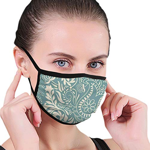 Face Mask Reusable Washable Masks Cloth for Men and Women,Ethnic Marrakech Ornament with Abstract Paisley Style Nature Inspired Motifs