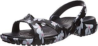 Crocs Women's Meleen Crossband Graphic Sandal Slide