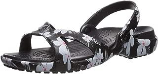 Crocs Womens 205711-98F Meleen Crossband Graphic Sandal