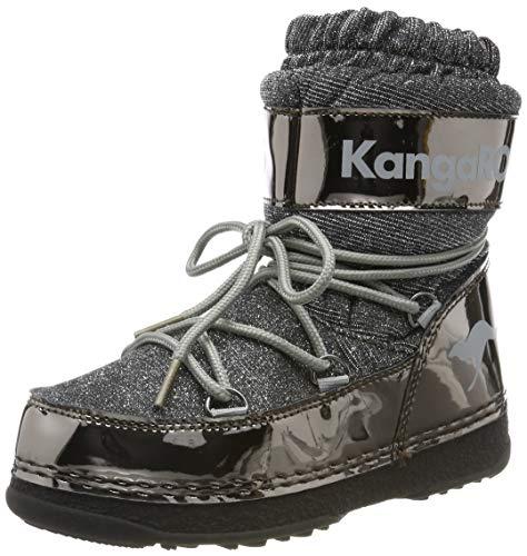 KangaROOS K-Moon, Bottes de Neige Garçon Unisex Kinder, (Steel Grey Metallic/Vapor Grey 2110), 32 EU