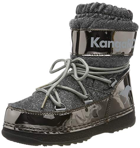 KangaROOS K-Moon, Botas de Nieve Unisex Niños, Steel Grey Metallic/Vapor Grey 2110, 34/35 EU