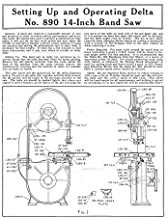 Delta Rockwell No. 890 14-inch Band Saw User Manual Instructions Reprint [Plastic Comb]