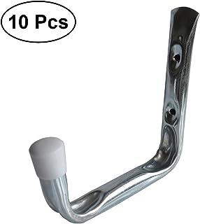 color negro Novelfun Ganchos de garaje y perchas de acero para colgar en la pared con tornillos para bicicleta paquete de 6 escaleras 3 tama/ños bolsas y herramientas sillas